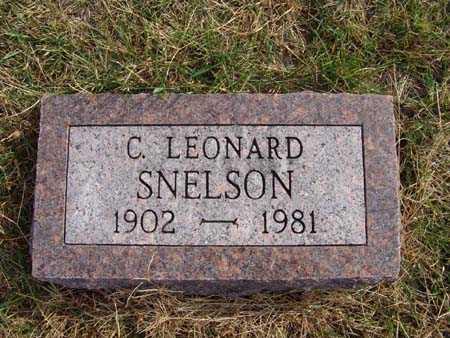 SNELSON, C. LEONARD - Warren County, Iowa   C. LEONARD SNELSON