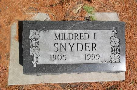 SNYDER, MILDRED I. - Warren County, Iowa | MILDRED I. SNYDER