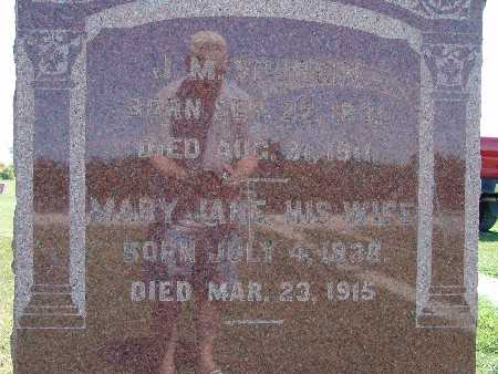 DITTEMORE SPURGIN, MARY JANE - Warren County, Iowa | MARY JANE DITTEMORE SPURGIN