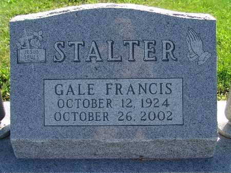 STALTER, GALE FRANCIS - Warren County, Iowa   GALE FRANCIS STALTER
