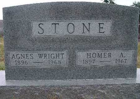 WRIGHT STONE, AGNES - Warren County, Iowa | AGNES WRIGHT STONE