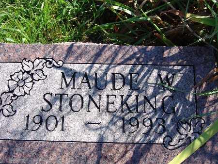 STONEKING, MAUDE W - Warren County, Iowa | MAUDE W STONEKING