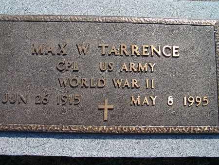 TARRENCE, MAX W. - Warren County, Iowa   MAX W. TARRENCE