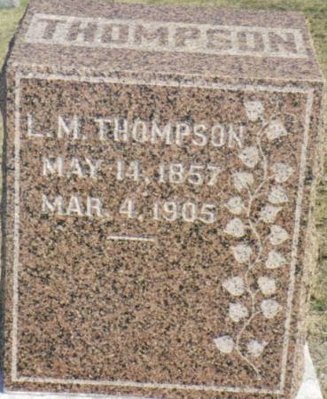 THOMPSON, L. M. - Warren County, Iowa | L. M. THOMPSON