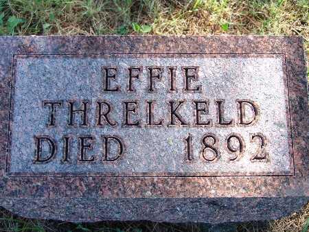 THRELKELD, EFFIE - Warren County, Iowa   EFFIE THRELKELD