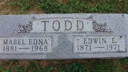TODD, MABEL EDNA - Warren County, Iowa | MABEL EDNA TODD