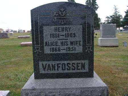 VAN FOSSEN, ALICE - Warren County, Iowa   ALICE VAN FOSSEN