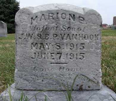 VAN HOOK, MARION E. - Warren County, Iowa   MARION E. VAN HOOK