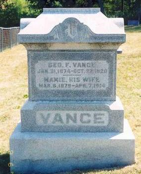 VANCE, GEORGE F. & MAMIE - Warren County, Iowa | GEORGE F. & MAMIE VANCE