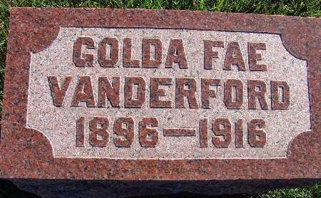 VANDERFORD, GOLDA FAE - Warren County, Iowa | GOLDA FAE VANDERFORD