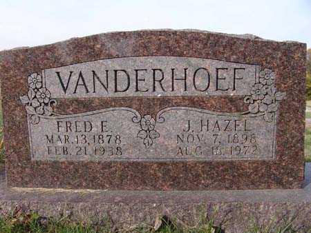 VANDERHOEF, J. HAZEL - Warren County, Iowa   J. HAZEL VANDERHOEF