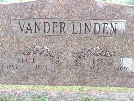 VANDERLINDEN, ALICE - Warren County, Iowa | ALICE VANDERLINDEN