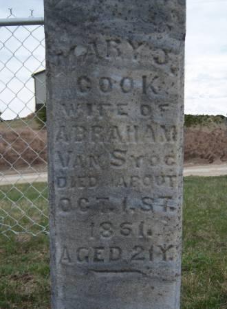 COOK VAN SYOC, MARY J. - Warren County, Iowa   MARY J. COOK VAN SYOC