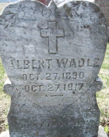WADLE, ALBERT - Warren County, Iowa   ALBERT WADLE