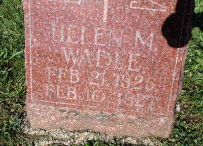 WADLE, HELEN M - Warren County, Iowa   HELEN M WADLE