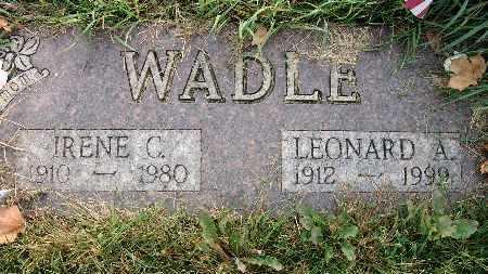 LILLIE WADLE, IRENE C. - Warren County, Iowa | IRENE C. LILLIE WADLE