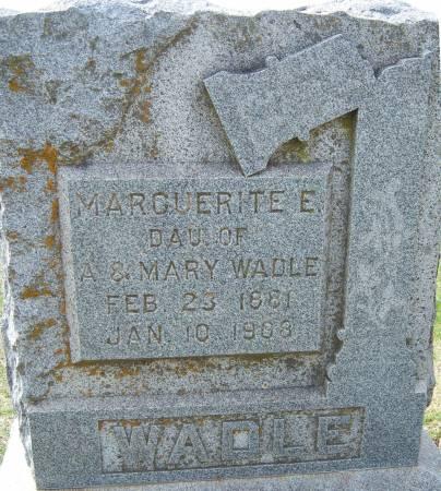 WADLE, MARGUERITE E. - Warren County, Iowa   MARGUERITE E. WADLE