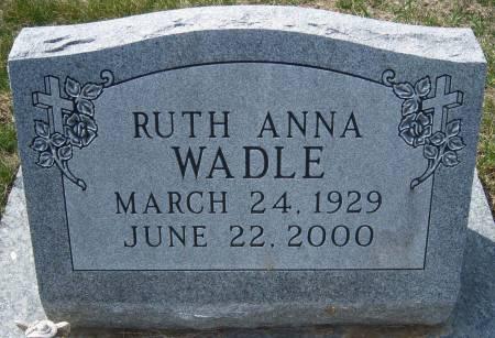 WADLE, RUTH ANNA - Warren County, Iowa   RUTH ANNA WADLE