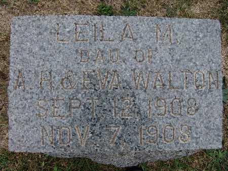WALTON, LEILA M. - Warren County, Iowa | LEILA M. WALTON