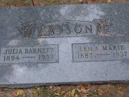 WATSON, JULIA BARNETT - Warren County, Iowa | JULIA BARNETT WATSON