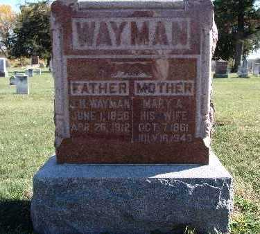 WAYMAN, MARY A. - Warren County, Iowa | MARY A. WAYMAN