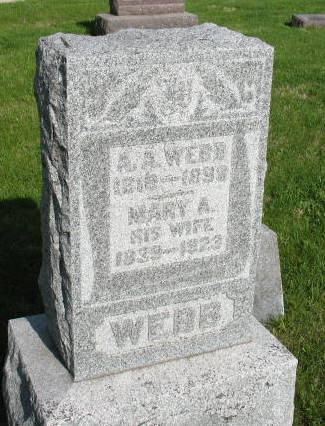 WEBB, ASA A. - Warren County, Iowa | ASA A. WEBB