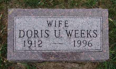 WEEKS, DORIS U. - Warren County, Iowa | DORIS U. WEEKS