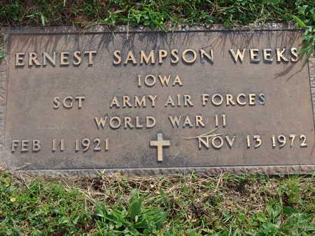 WEEKS, ERNEST SAMPSON - Warren County, Iowa | ERNEST SAMPSON WEEKS