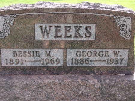 WEEKS, BESSIE M - Warren County, Iowa | BESSIE M WEEKS