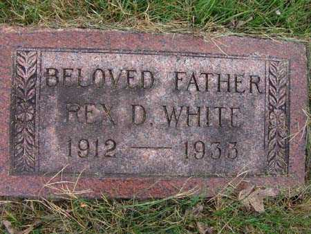 WHITE, REX D. - Warren County, Iowa   REX D. WHITE