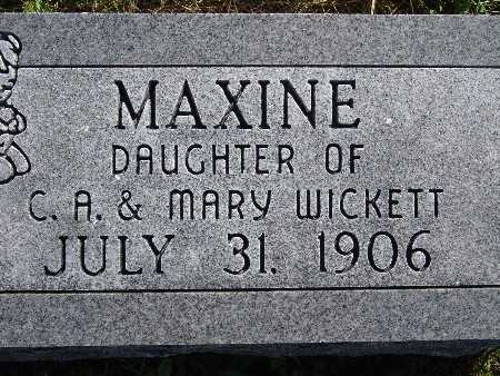 WICKETT, MAXINE - Warren County, Iowa | MAXINE WICKETT