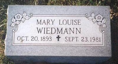 WIEDMANN, MARY LOUISE - Warren County, Iowa | MARY LOUISE WIEDMANN
