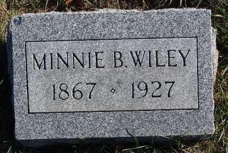 WILEY, MINNIE B. - Warren County, Iowa | MINNIE B. WILEY
