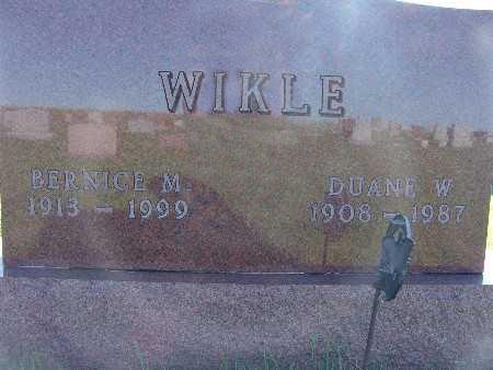 WIKLE, DUANE W. - Warren County, Iowa   DUANE W. WIKLE