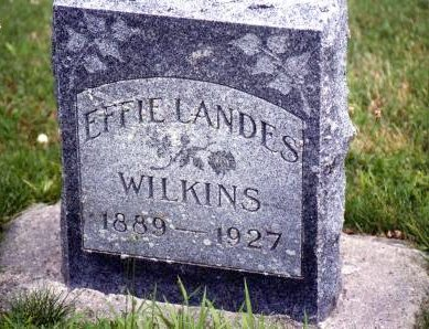 LANDES WILKINS, EFFIE - Warren County, Iowa | EFFIE LANDES WILKINS