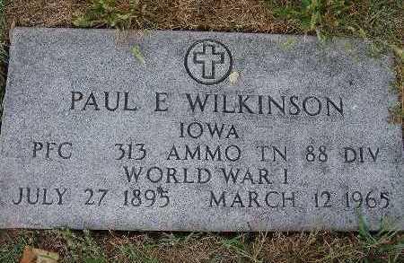 WILKINSON, PAUL E. - Warren County, Iowa | PAUL E. WILKINSON