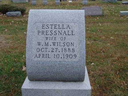 WILSON, ESTELLA PRESSNALL - Warren County, Iowa | ESTELLA PRESSNALL WILSON