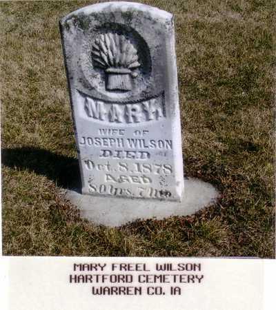 FREEL WILSON, MARY - Warren County, Iowa | MARY FREEL WILSON