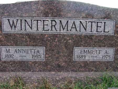 WINTERMANTEL, M. ANNETTA - Warren County, Iowa | M. ANNETTA WINTERMANTEL