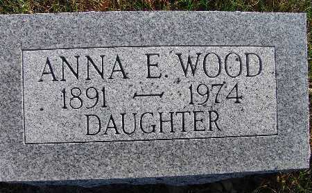 WOOD, ANNA E. - Warren County, Iowa | ANNA E. WOOD