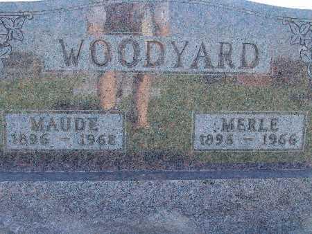 WOODYARD, MAUDE - Warren County, Iowa | MAUDE WOODYARD