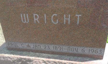 WRIGHT, PAUL C - Warren County, Iowa   PAUL C WRIGHT