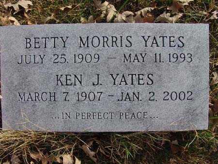 YATES, BETTY MORRIS - Warren County, Iowa | BETTY MORRIS YATES
