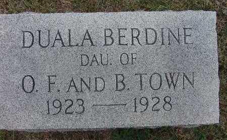 TOWN, DUALA BERDINE - Warren County, Iowa | DUALA BERDINE TOWN