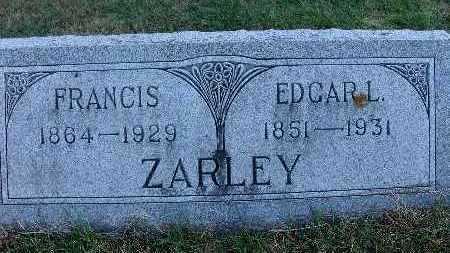 ZARLEY, FRANCIS - Warren County, Iowa   FRANCIS ZARLEY