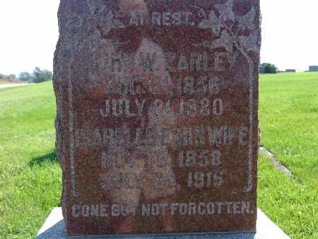 ZARLEY, ISABELLE E - Warren County, Iowa | ISABELLE E ZARLEY