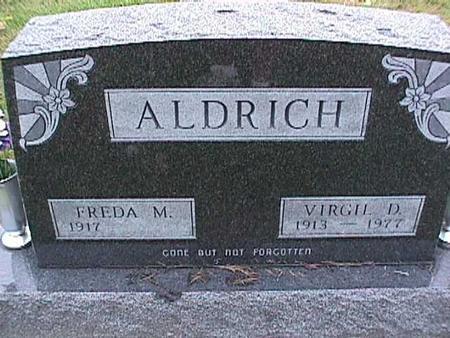 ALDRICH, FREDA - Washington County, Iowa | FREDA ALDRICH
