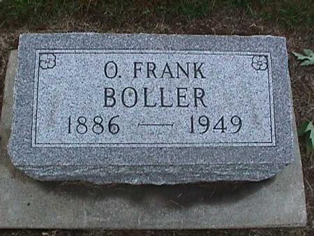 BOLLER, O. FRANK - Washington County, Iowa | O. FRANK BOLLER