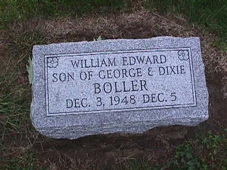 BOLLER, WILLIAM EDWARD - Washington County, Iowa | WILLIAM EDWARD BOLLER