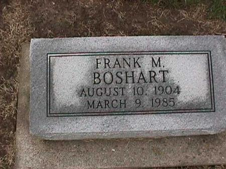 BOSHART, FRANK M. - Washington County, Iowa | FRANK M. BOSHART